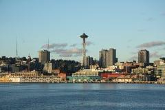 Seattle de stad in stock foto's
