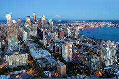 Seattle de stad in Stock Afbeeldingen