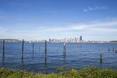 Seattle de stad in Royalty-vrije Stock Foto's