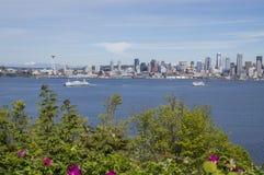 Seattle de stad in Royalty-vrije Stock Afbeelding