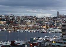 Seattle de stad in, de Unie van het Zuidenmeer royalty-vrije stock foto