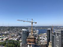 Seattle de stad in en Meerunie in de zomer royalty-vrije stock foto