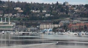 Seattle de stad in, meerunie, boot stock foto's