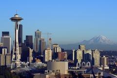 Seattle an der Dämmerung Stockfotografie