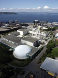 Seattle Dome. Aerial view of Seattle downtown Stock Image