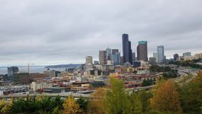Seattle downtomn timelapse. A timelapse with Seattle downtown, traffic and junction  view stock video