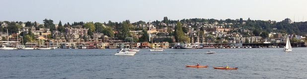 Seattle downtown lake union, boat Royalty Free Stock Image