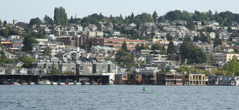 Seattle downtown, lake union Stock Images