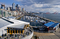 Seattle downtown marina Royalty Free Stock Photos