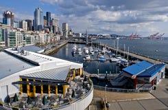 Seattle downtown marina Royalty Free Stock Photos