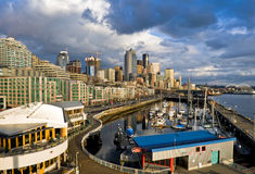 Seattle downtown marina Stock Images