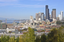 Seattle downtown modern buildings skyline. Royalty Free Stock Images
