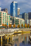 Seattle downtown near waterfront in the late autumn afternoon. Royalty Free Stock Photos