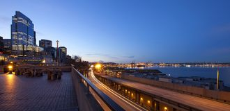 Seattle downtown, Pike Market at early morning before sunrise. Stock Photography