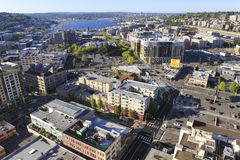 Seattle downtown, South Lake Union areal Royalty Free Stock Images