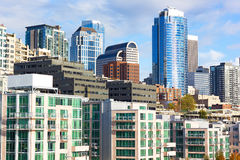 Seattle downtown on a sunny afternoon in fall. Stock Image