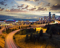 Seattle from Dr Jose Rizal Bridge Royalty Free Stock Photo
