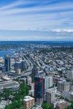 Seattle e 5 da uno stato all'altro del sud Fotografia Stock