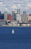 Seattle e yacht Fotografie Stock
