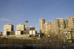 Het leven in de stad van Seattle royalty-vrije stock foto's