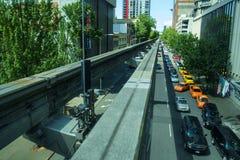 Seattle-Einschienenbahnbahnen Lizenzfreie Stockfotografie