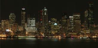Seattle en la noche Foto de archivo