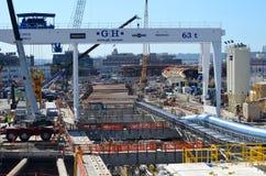 Seattle ennuient profondément le projet de tunnel Photos libres de droits