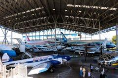 Seattle, Etats-Unis, le 3 septembre 2018 : Le musée du pavillon de l'aviation du vol est couvert photos stock