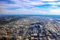 Seattle, EUA, o 31 de agosto de 2018: Vista de Seattle do centro foto de stock