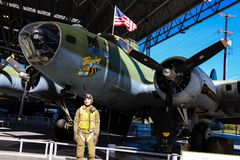 Seattle, EUA, o 3 de setembro de 2018: O museu do voo é o o museu privado o maior do ar e de espaço no mundo foto de stock royalty free