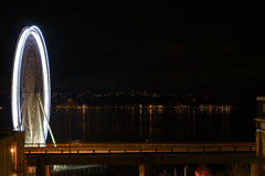 Seattle eye by night Royalty Free Stock Photography
