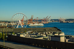Seattle-Fähren-Ankommen Lizenzfreies Stockbild