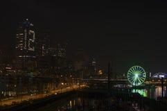 Seattle. Ferris wheel on night Royalty Free Stock Photography
