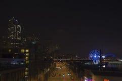 Seattle. Ferris wheel on night Stock Images