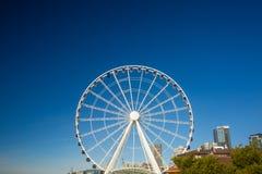 Seattle Ferris Wheel och Puget Sound Royaltyfri Foto