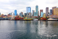 Seattle ferris wheel. View is from the water Stock Image