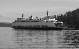 Seattle Ferry Boat at San Juan Island. The Washington State Highway system includes ferryboats that transport cars across Puget Sound stock images