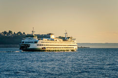 Seattle Ferry at Sunset Royalty Free Stock Image