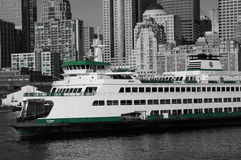 Seattle ferry. A ferry waits to leave Seattle and head to Bremerton Royalty Free Stock Images