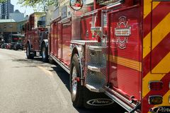 Seattle fire truck royalty free stock photos