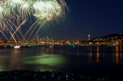 Seattle Fireworks Show Royalty Free Stock Image