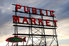 Seattle-Fischmarkt Stockfotografie