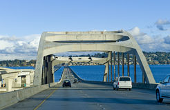 Seattle Floating Bridge stock photo