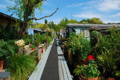 Seattle, Washington: floating houses and gardens Stock Images