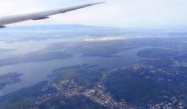 Seattle från luften Royaltyfria Bilder