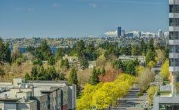 Seattle från Bellevue Arkivfoto