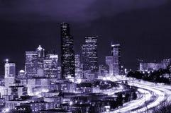 Seattle futurista imagenes de archivo