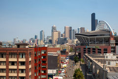 Seattle on Game Day royalty free stock images