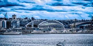 SEATTLE - GIUGNO 2017: Stadio del campo di collegamento di secolo Casa di Seattle fotografie stock libere da diritti