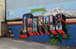 Seattle graffiti Royalty Free Stock Image